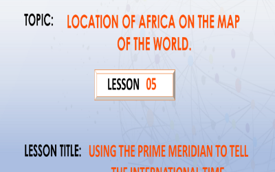 05. Using the prime meridian to tell the international time