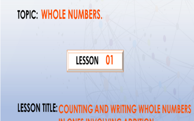 01 Counting and writing whole numbers in ones involving addition
