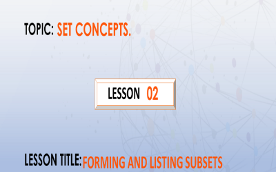 02 Finding Number Of Subsets by listing