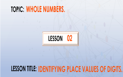 02 Writing place values of digits in numbers.