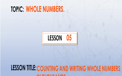 05 Counting and writing whole numbers in thousands up to 5 digits