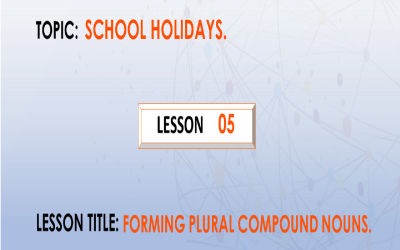 5. Forming plural of compound nouns.