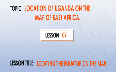7. Location of the equator on the map.