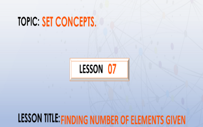 07 Finding Number Of Elements Given Proper Subsets.