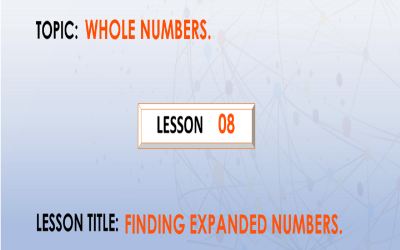 08  Finding The Expanded Number.