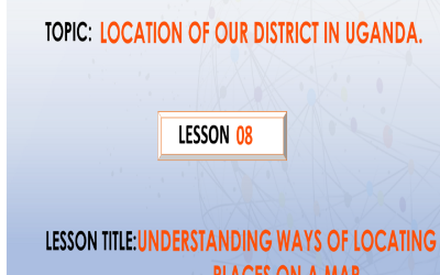 8. Understanding ways of locating places on a map.