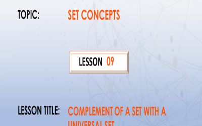 09. Describing Complement Of Sets In A Universal Set.