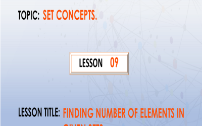 09 Finding Number Of Elements In A Given Set.