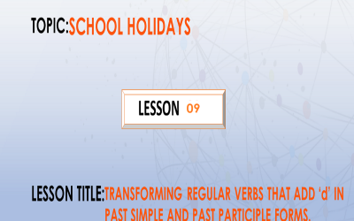 15. Transforming irregular verbs that change the same way in past simple and past participle form. P.7.