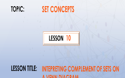 10. Interpreting Complement Of Sets On A Venn Diagram.