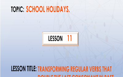 11. Transforming regular verbs that double the last consonant in past simple and past participle form. P.7.
