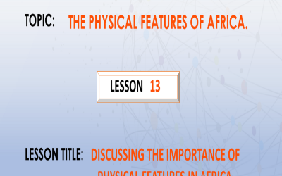 13. Understanding the importance of physical features in Africa.