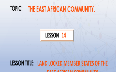 14. Land Locked Member States Of The EAC.