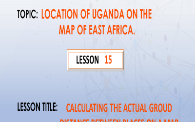 15. Calculating the actual distance between places on a map.