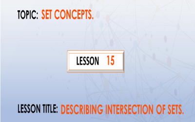 15 Describing Intersection Of Sets.