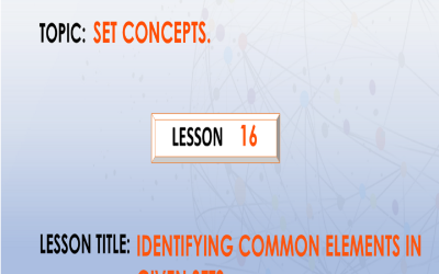 16 Identifying Common Members In Given Sets.