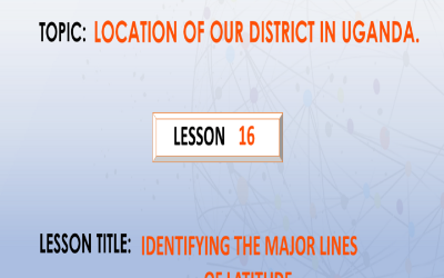 16. Identifying The Major Lines Of Latitude.