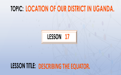 17. Describing the Equator.