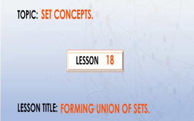 18 Forming Union Of Sets.