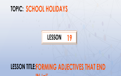 """19. Forming adjectives that end in suffix """"al""""."""
