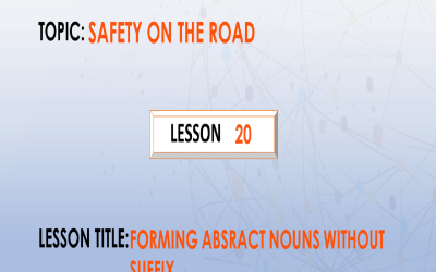 21. Forming agent nouns from verbs.
