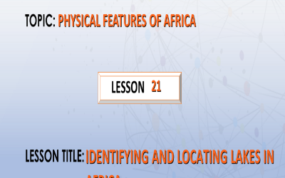 21.Identifying and locating lakes in Africa.