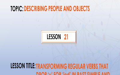 "21. Transforming regular verbs that drop ""y"" for ""ied"""