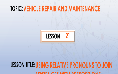 21. Using relative pronouns to join which have prepositions.