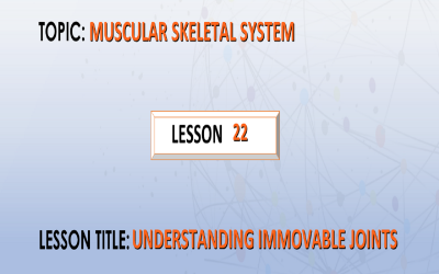 22. understanding immovable joints.