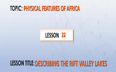 22.Describing the Rift valley lakes.