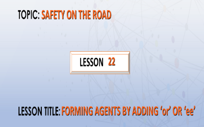 "22-Forming agents by adding ""or"" or ""ee""."