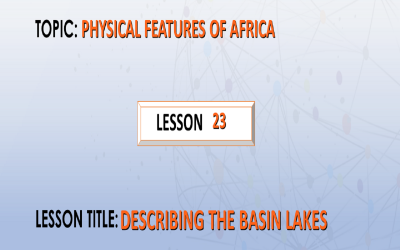23.Describing the Basin lakes.